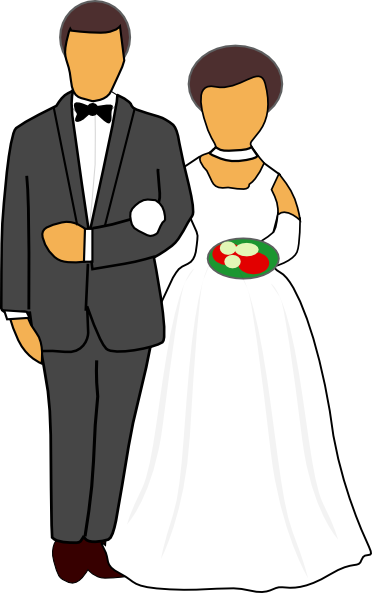 Wedding Couple Clip Art At Clker Com Vector Clip Art Online Royalty