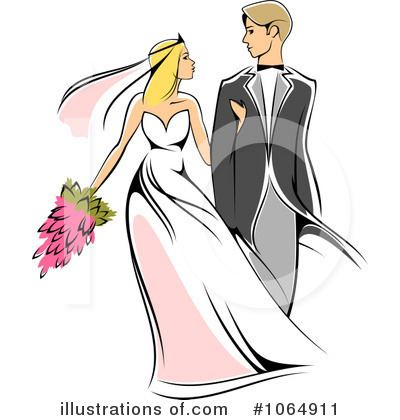 Wedding Couple Clipart .