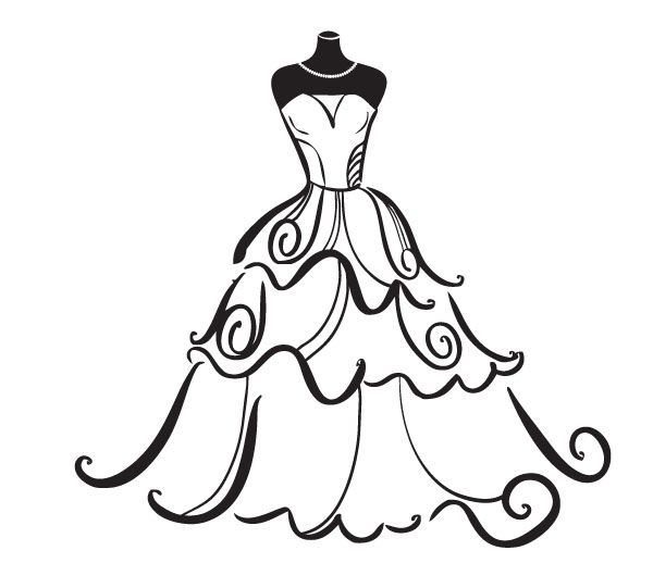 Wedding Dress Clipart Free -  - Wedding Clip Art