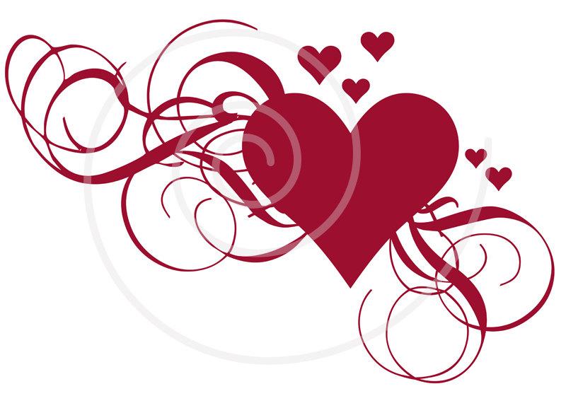 Wedding Heart Clipart Item .-Wedding Heart Clipart Item .-14