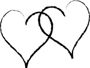 Wedding Hearts Clipart Black .