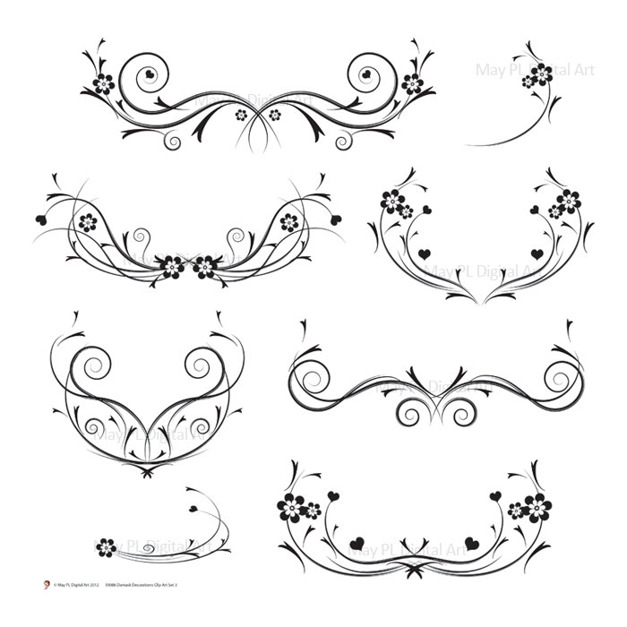 ... Wedding Invitation Swirls Clipart