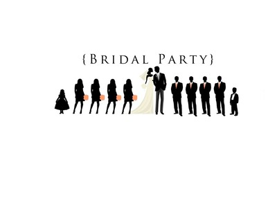 Wedding Party Silhouette Clip - Wedding Party Silhouette Clip Art