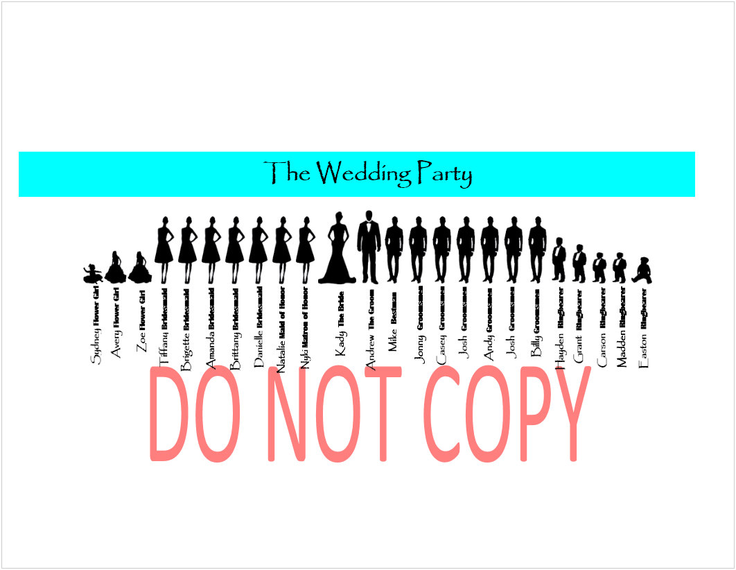 Wedding Party Silhouette Clip Art-Wedding Party Silhouette Clip Art-17