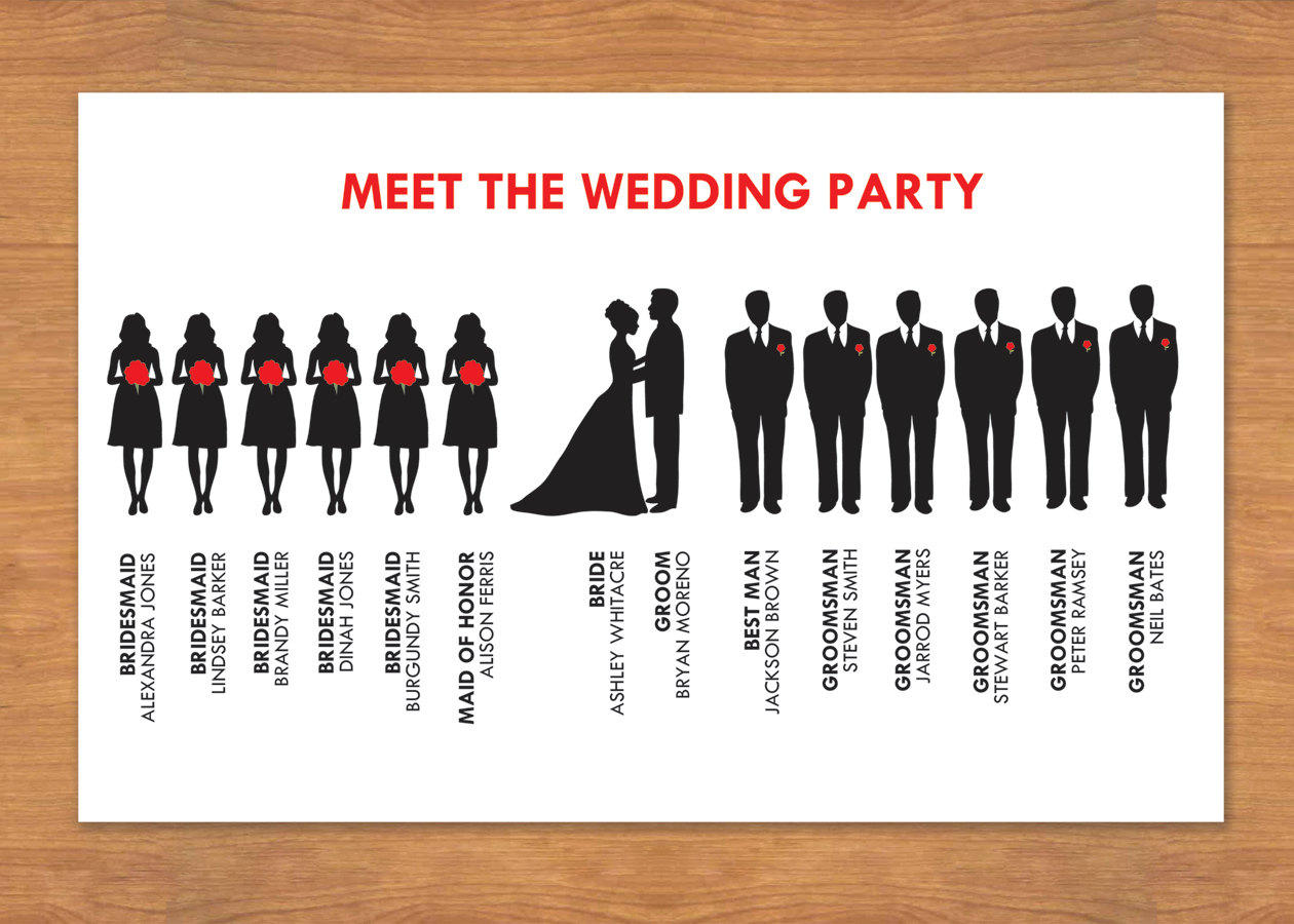 Wedding Party Silhouette Clip .-Wedding Party Silhouette Clip .-8