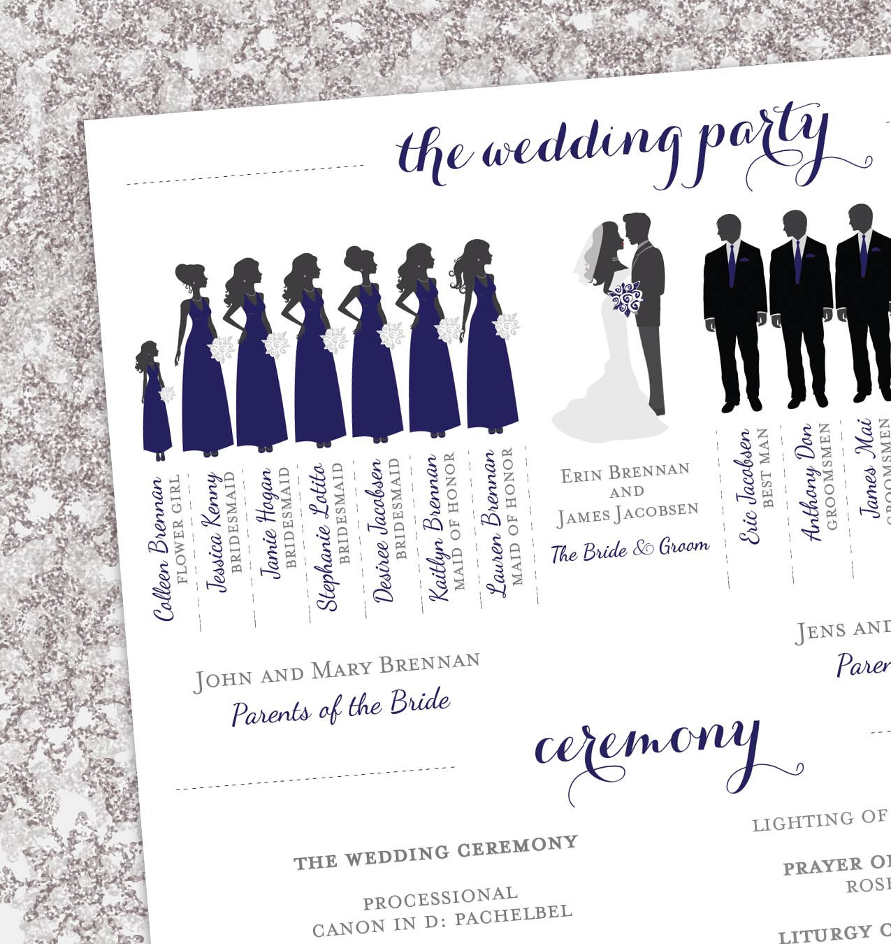 Wedding Party Silhouette Clip .-Wedding Party Silhouette Clip .-10