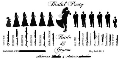 Wedding Party Silhouette Idea - Wedding Party Clipart