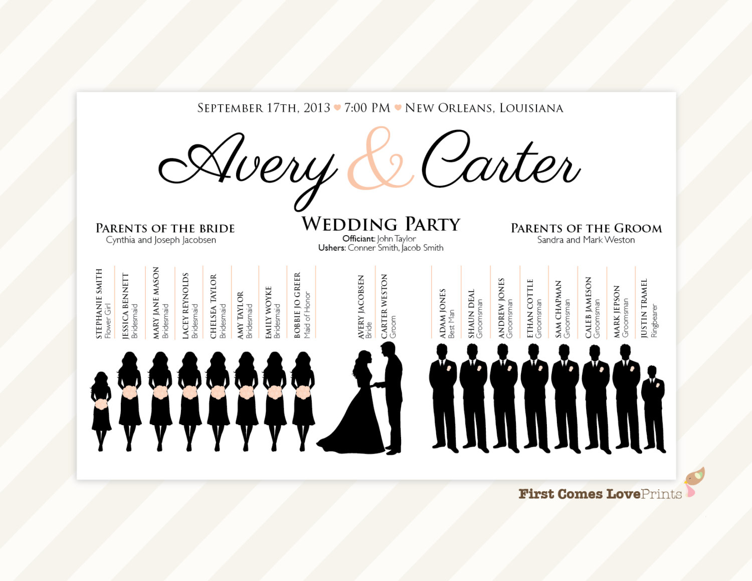High Quality Wedding Program Inclusions Best Resumes Wedding Party  Silhouette Template Printable Wedding Program Wedding Party