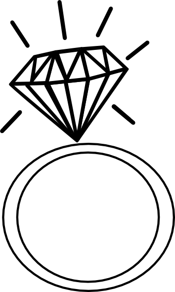 Wedding Ring Engagement Ring Clipart Bla-Wedding ring engagement ring clipart black and white free-13