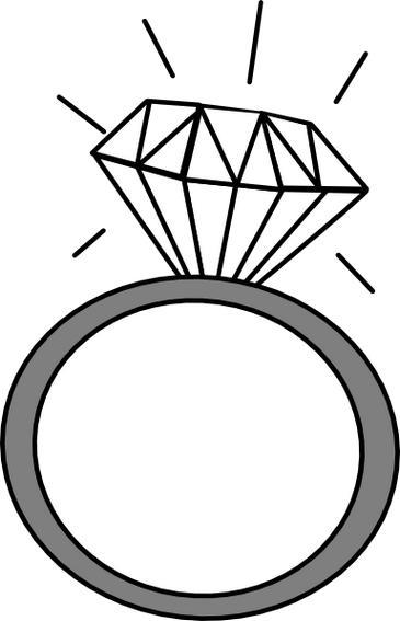 Wedding ring engagement ring .