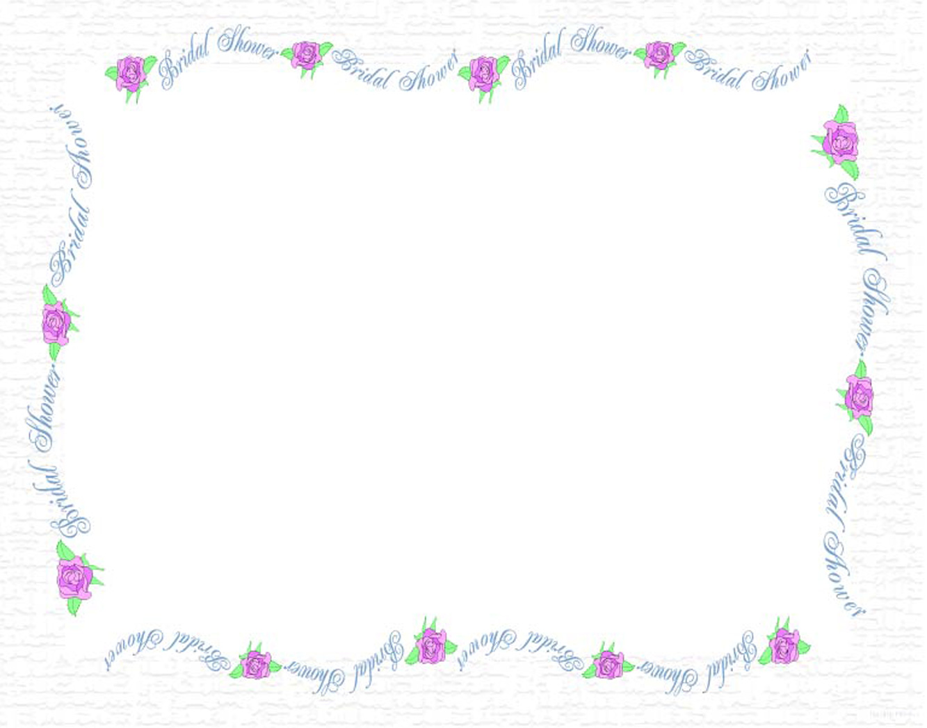 Wedding Shower Borders Free Clipart #1