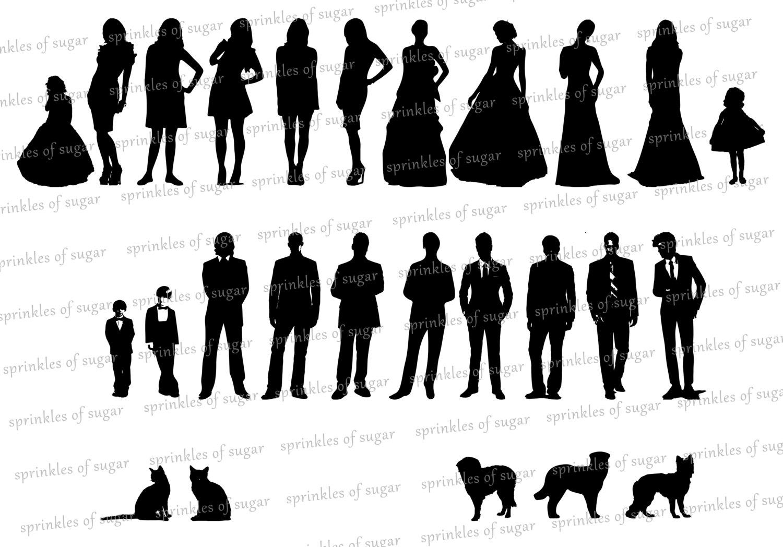 Wedding Silhouette Clip Art - .-Wedding Silhouette Clip Art - .-7