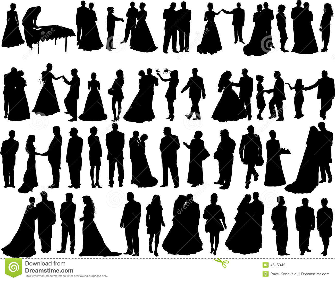 Wedding Silhouettes-Wedding silhouettes-19