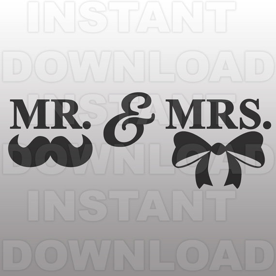 Wedding SVG File,Mr u0026amp; Mrs SVG File-Cutting Template-Vector Clip Art