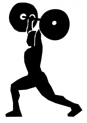 Weight Lifting clip art Free vector in O-Weight Lifting clip art Free vector in Open office drawing svg-2