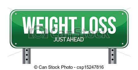 ... weight loss road sign illustration design over a white... weight loss road sign illustration design Clipartby ...