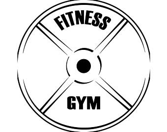 Fitness Center Gym Plate Logo Bodybuilde-Fitness Center Gym Plate Logo Bodybuilder Exercise Discipline Strong.SVG  .EPS .PNG Vector-8