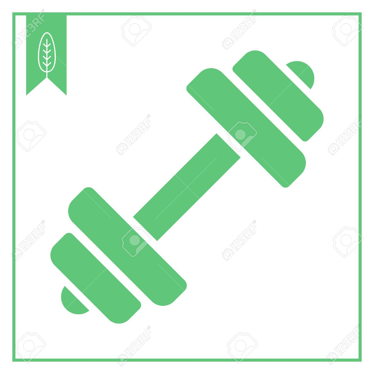 Vector Icon Of Barbell With Weight Plate-Vector icon of barbell with weight plates Stock Vector - 46863296-10
