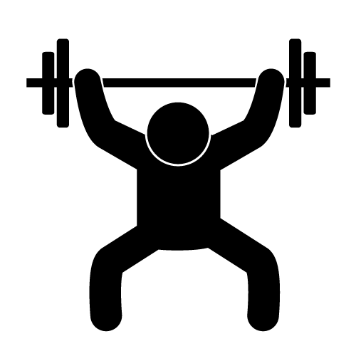 Weightlifting Clipart Clipart - Lifting Weights Clipart