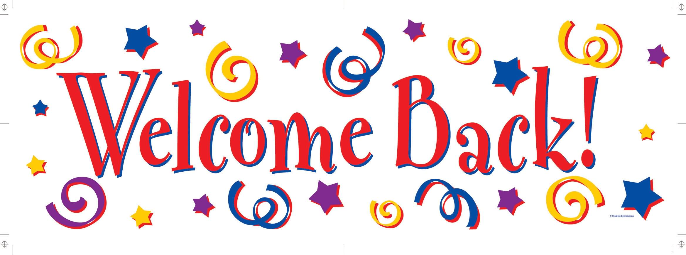 Welcome Back Animations . - Welcome Back Clip Art