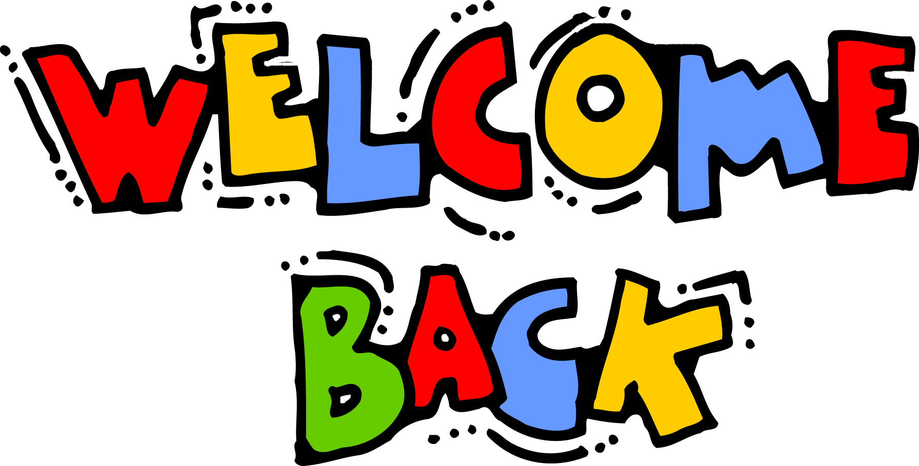 Welcome Back Colorful Text Clipart Picture
