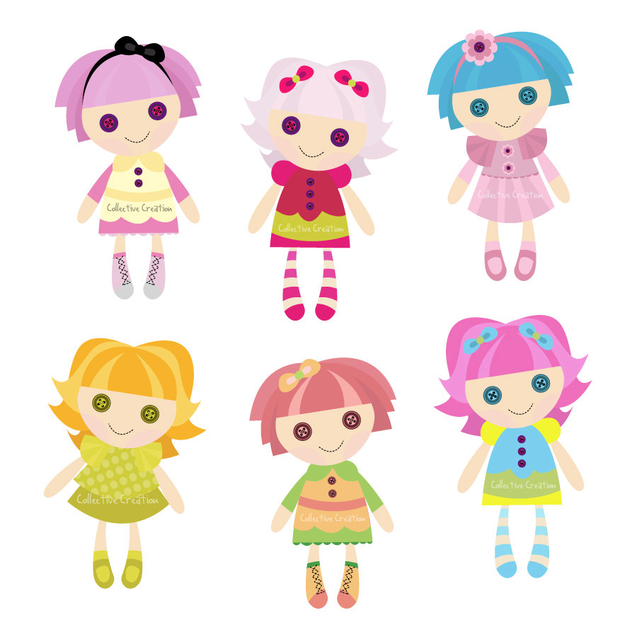 Welcome Back - Dolls Clipart