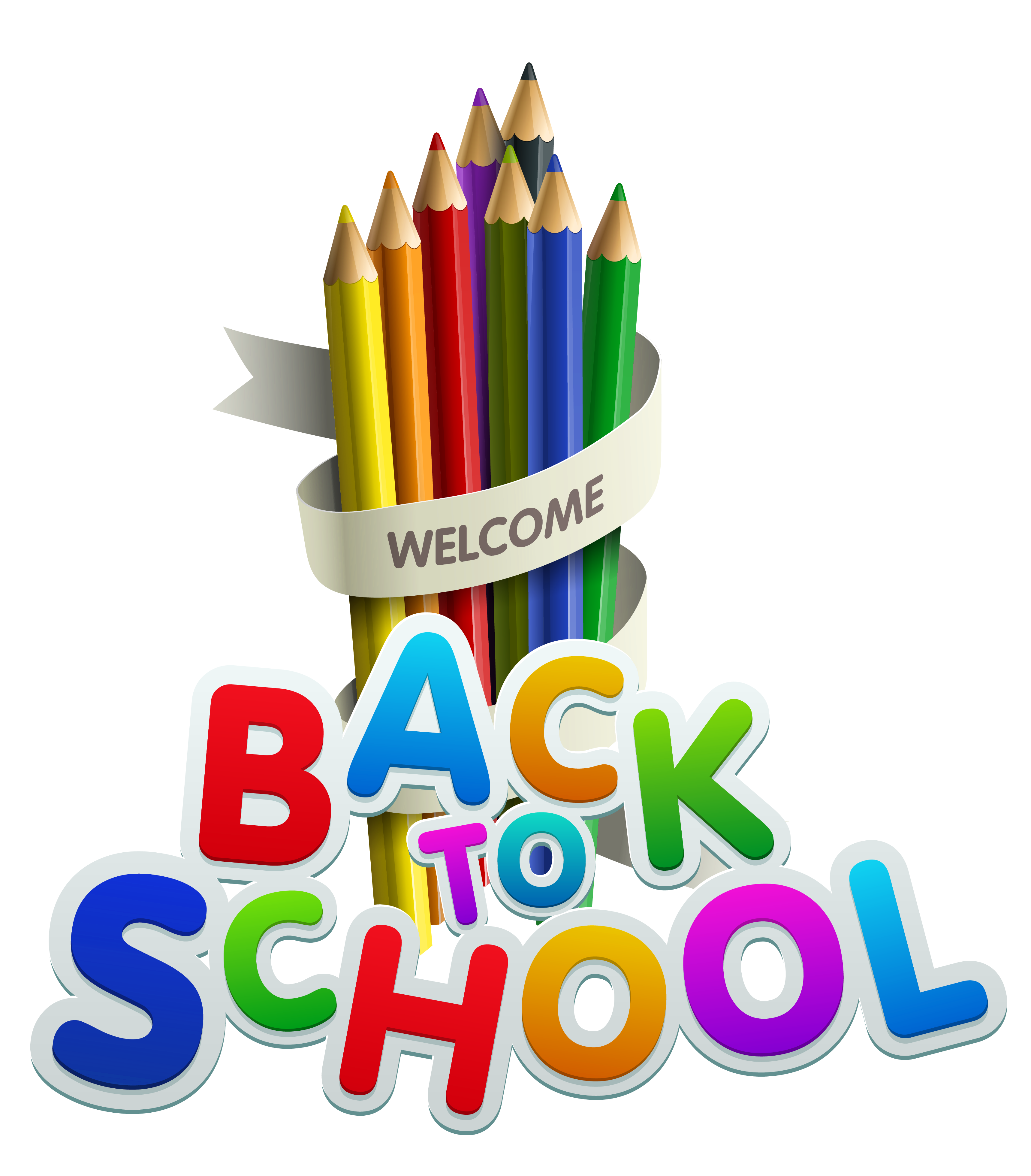 Welcome Back To School Color Pencils Clipart