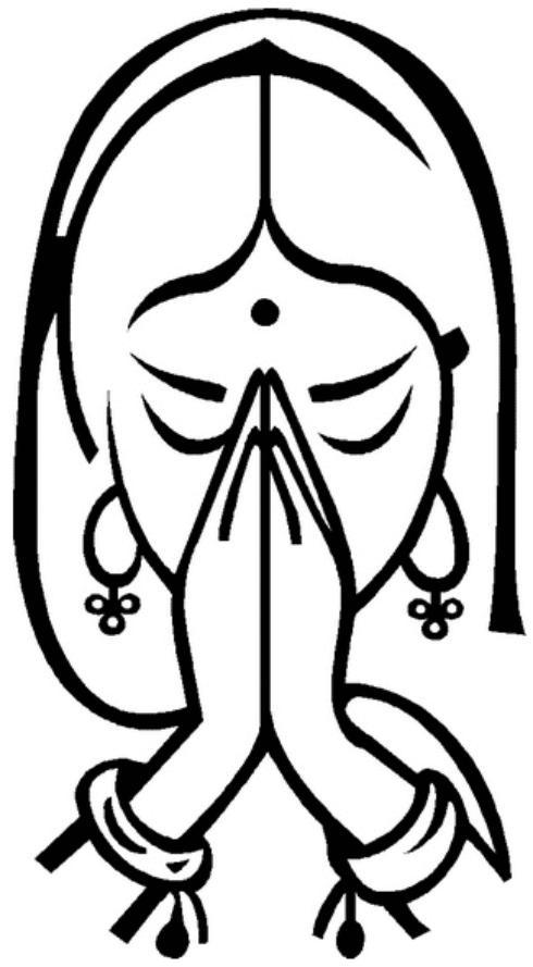 Namaskar Welcome Clipart