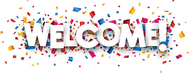 Welcome sign vector art illustration
