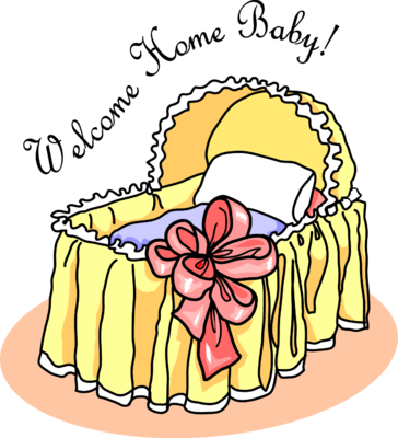 Welcome Home bassinet Clip Art. Welcome Home