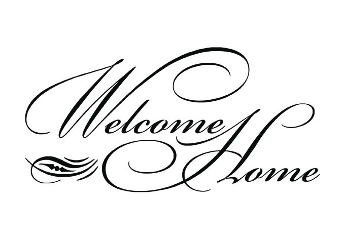 Welcome Home Clip Art - .