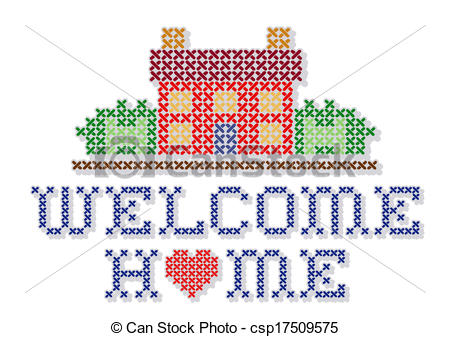 Welcome Home Embroidery Csp17509575