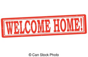 ... Welcome home - Stamp with text welcome home inside, vector.