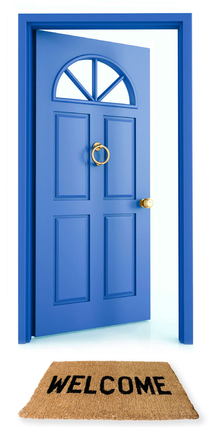 Welcome Open Door Clip Art
