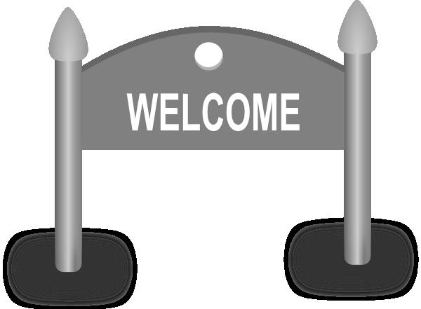 Welcome Sign Clip Art At Clker Com Vector Clip Art Online Royalty