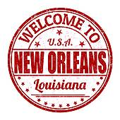 ... Welcome to New Orleans stamp
