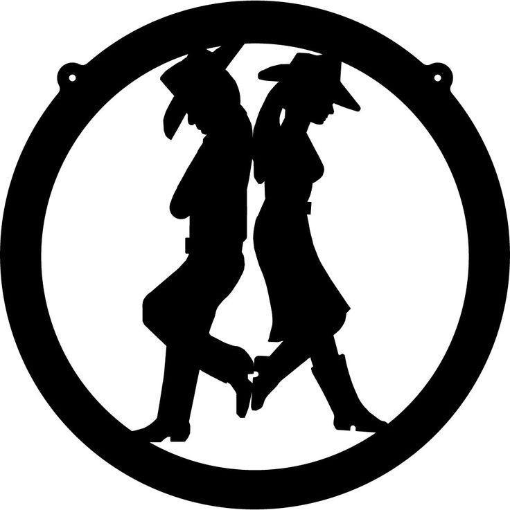 Western cowboy cowgirl silhouette clip art web hosting by yahoo