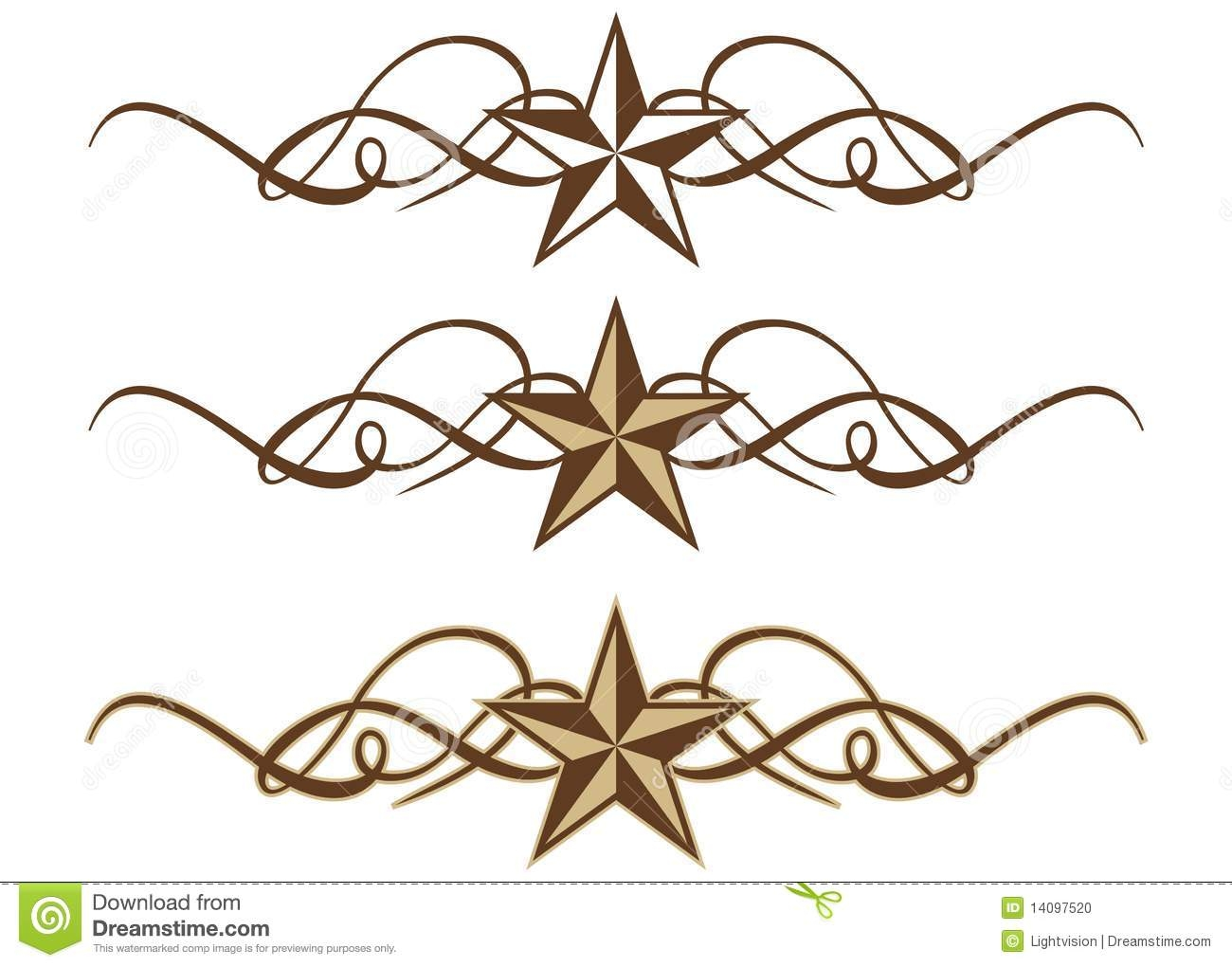 Western Scroll Work Clipart