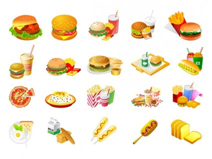 Westernstyle Fast Food Clip Art Free Vector In Adobe Illustrator Ai