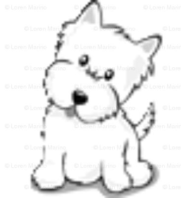 Westie Dog By Kim clipart