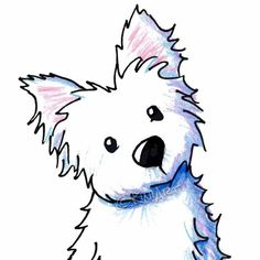 Westie Dog By Kim clipart - Westie Clipart