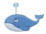 whale swimming clipart. Size: 47 Kb