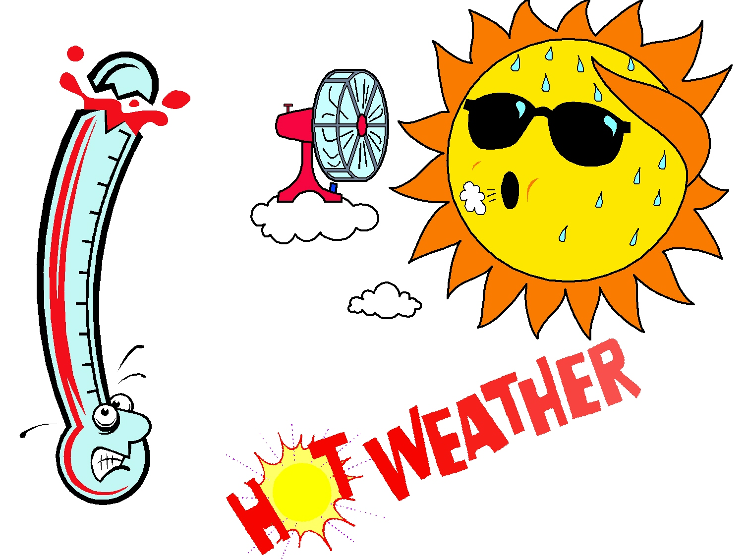 What Is The Usual Summer High - Hot Weather Clip Art