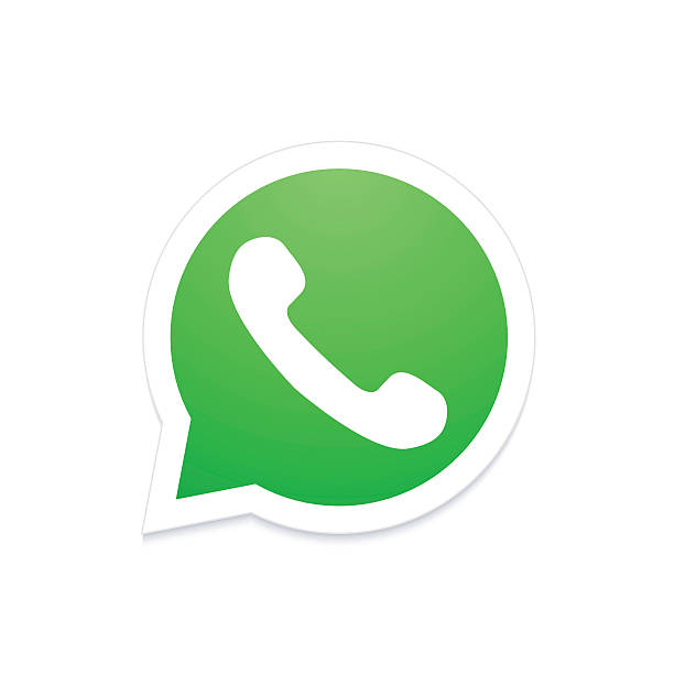 Vector modern phone icon in b - Whatsapp Clipart