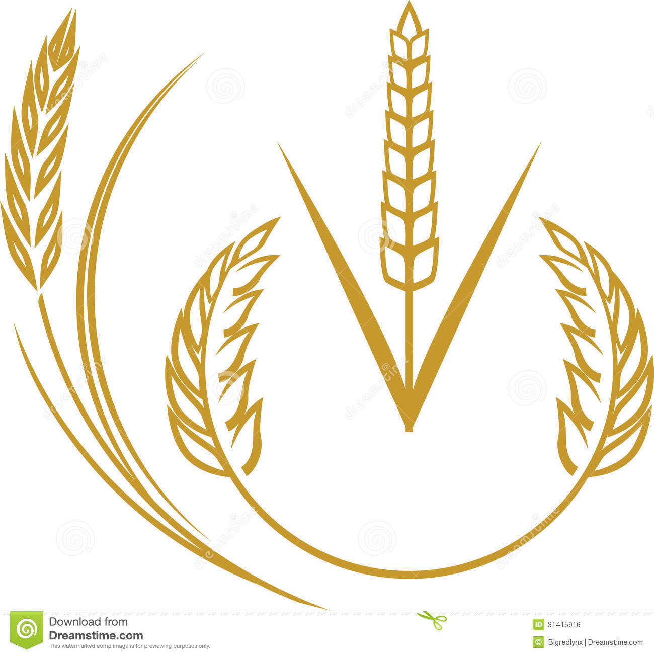 Wheat Elements Royalty Free Stock Image