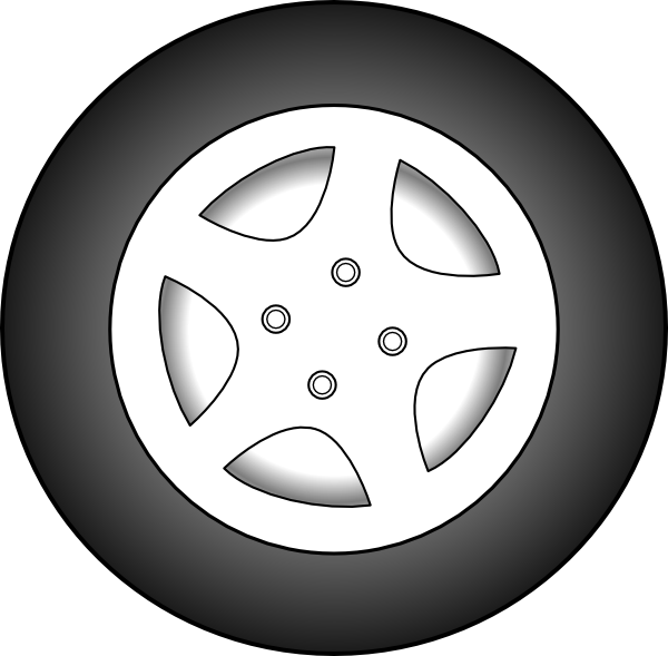 Wheel Chrome Rims Clip Art