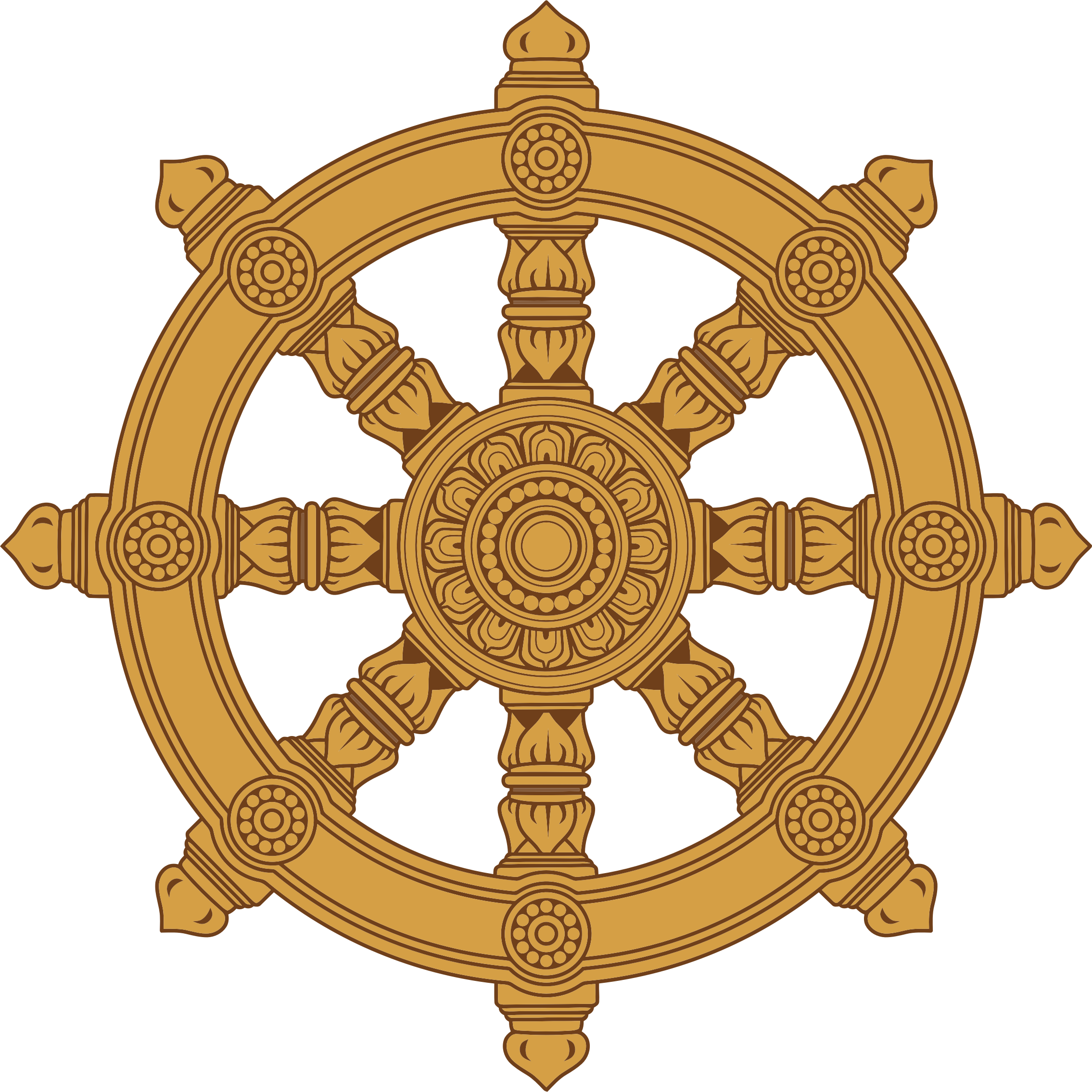 Wheel clipart buddhist #6