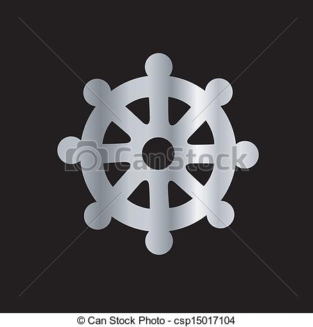 Wheel of Dharma- Symbol Buddhism - csp15017104