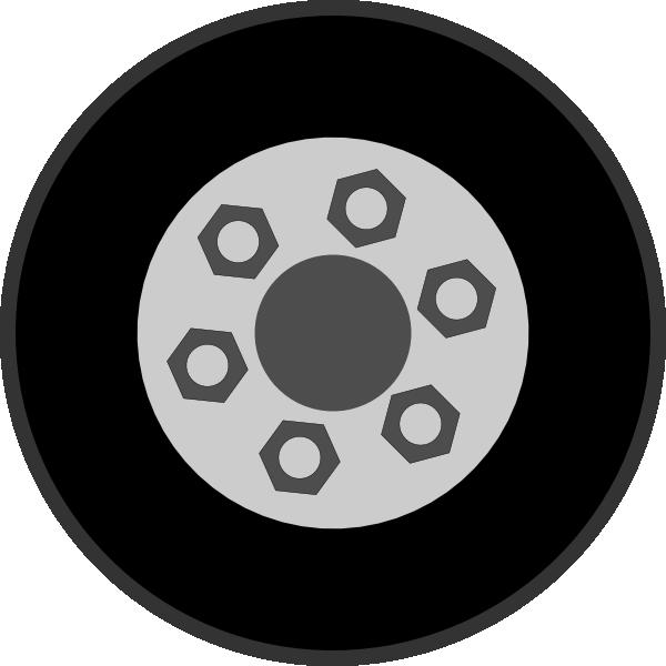 Wheel With Bolts Clip Art At Clker Com Vector Clip Art Online