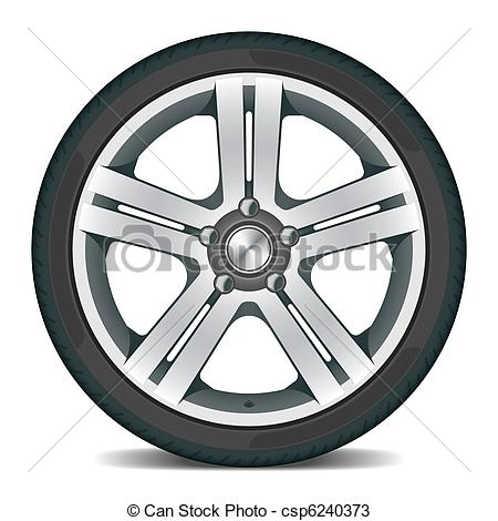 Wheels with fire Clipartby Nihongo3/201; Car wheel - Detailed vector illustration of a car wheel
